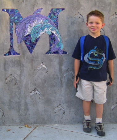 Picture of Russ on first day of first grade, 29 Aug 2007